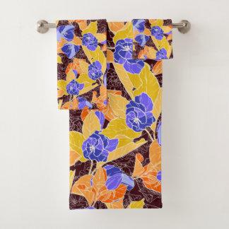 Apple-Blüten-Muster Badhandtuch Set