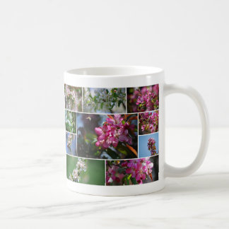 Apple-Blüten und Honig-Bienen Kaffeetasse