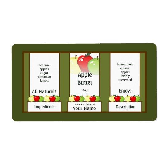 Apple-Buttereinmachender Glas-Aufkleber