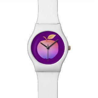 Apple-lila künstlerisches vibrierendes stilvolles uhr