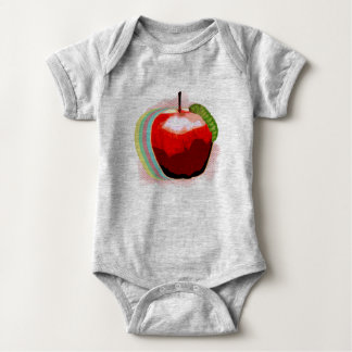 Apple mit Wurm Baby Strampler