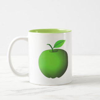 Apple-Oma-Smith-Grün-stilvoller Cartoon frisch Zweifarbige Tasse