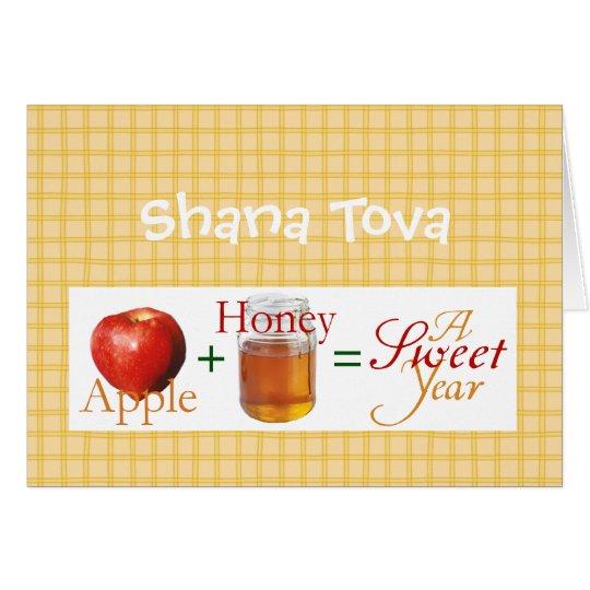 Apple plus Honig Grußkarte