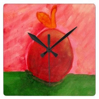 Apple - quadratische Uhr