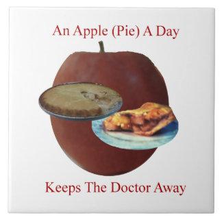 """Apple (Torte) ein Tag 6"""" x 6"""" Fliese oder Trivet"""