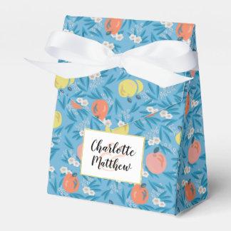 Appleblumenhimmel-Blau-Rosa-Gastgeschenk Geschenkschachtel