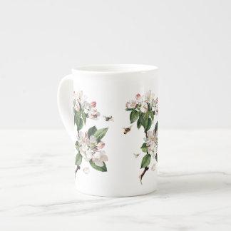 Appleblüten-und -bienen-Knochen-China-Tasse Prozellantasse