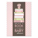 Apportez à un livre l'invitation douce de baby carton d'invitation  12,7 cm x 17,78 cm
