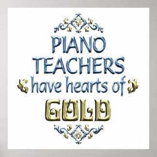 Appréciation de professeur de piano affiche