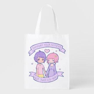 Appui réutilisable votre sac de soeurs sac réutilisable d'épcierie