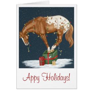 Appy Feiertage! Appaloosa-Weihnachtskarte Karte