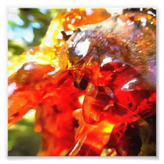 Aprikosen-Harz abstrakt Fotodruck