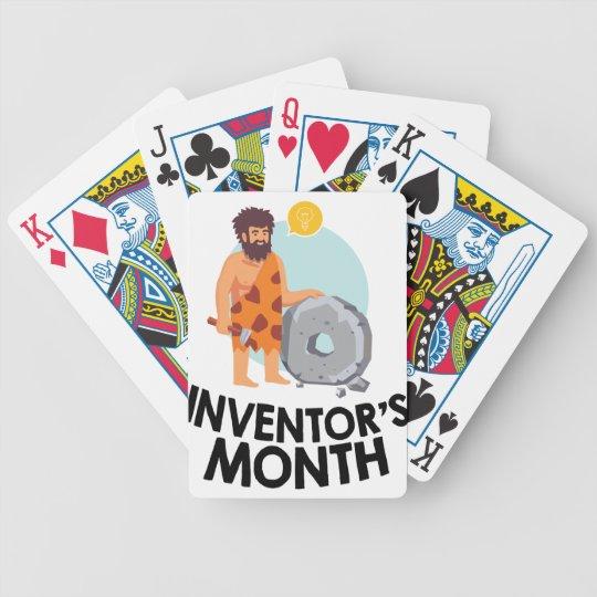 April - der Monat des Erfinders Bicycle Spielkarten