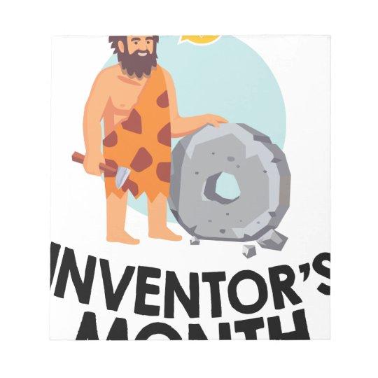 April - der Monat des Erfinders Notizblock