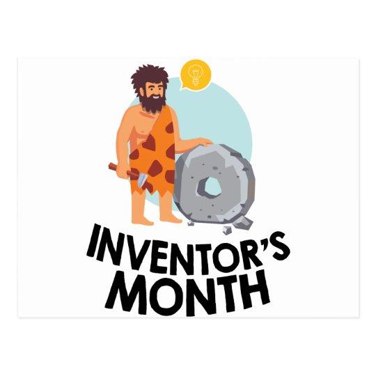 April - der Monat des Erfinders Postkarte