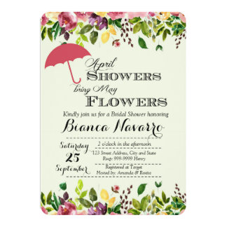 April duscht Brautparty-Einladung Karte