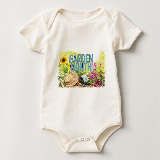 April - Garten-Monat Baby Strampler