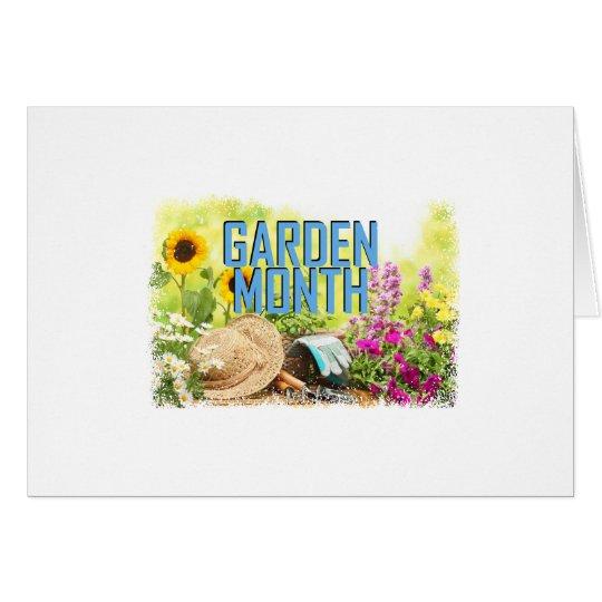 April - Garten-Monat Karte