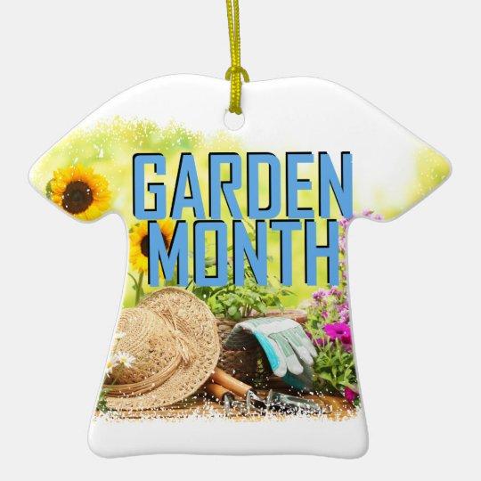 April - Garten-Monat Keramik T-Shirt-Ornament