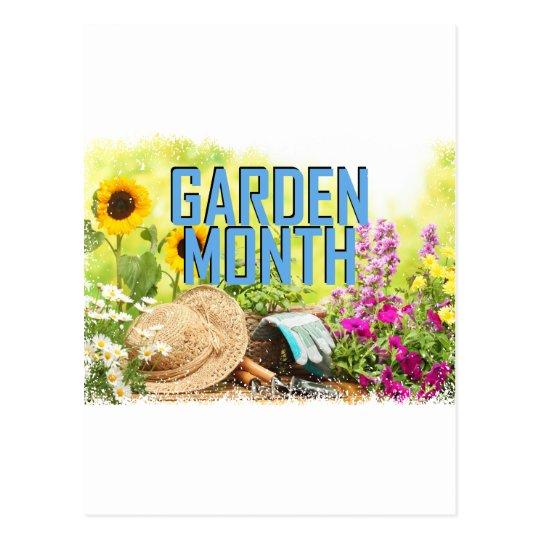April - Garten-Monat Postkarte