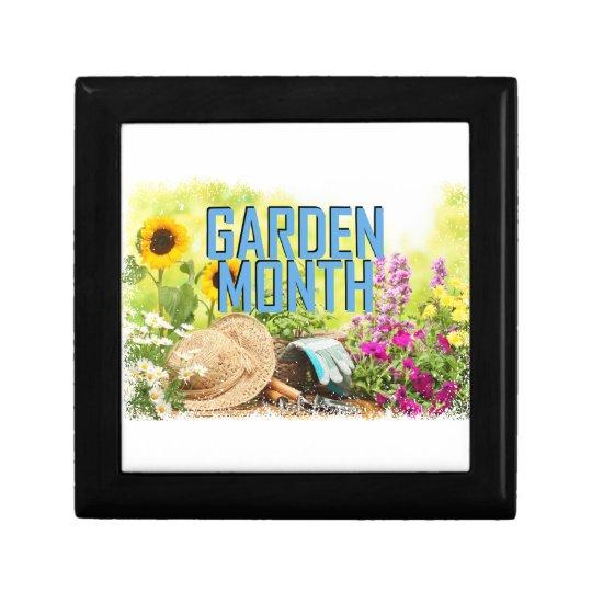 April - Garten-Monat Schmuckschachtel