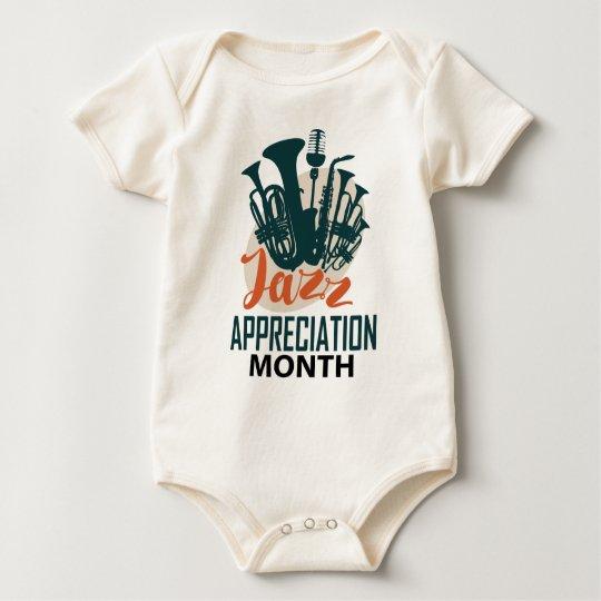 April - Jazz-Anerkennungs-Monat Baby Strampler