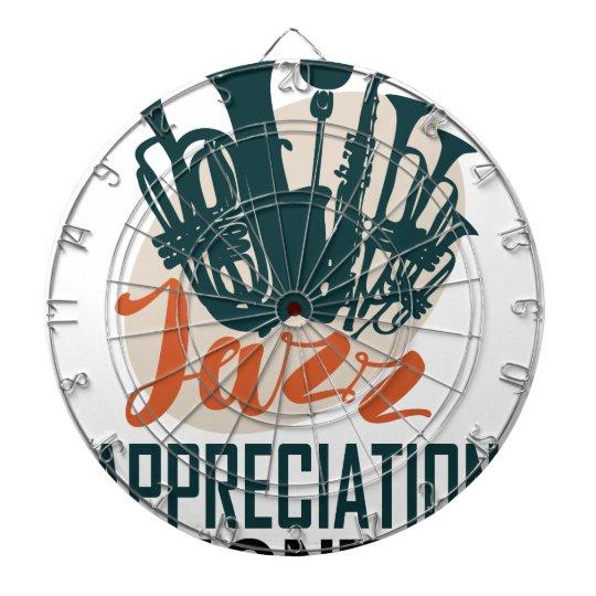 April - Jazz-Anerkennungs-Monat Dartscheibe