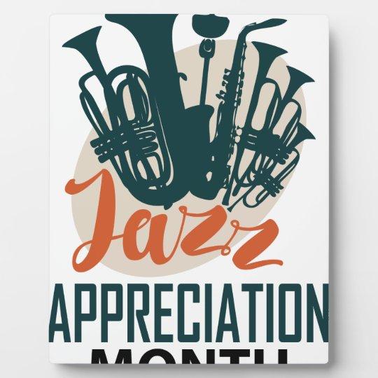April - Jazz-Anerkennungs-Monat Fotoplatte