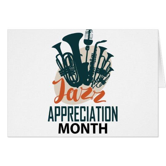 April - Jazz-Anerkennungs-Monat Grußkarte