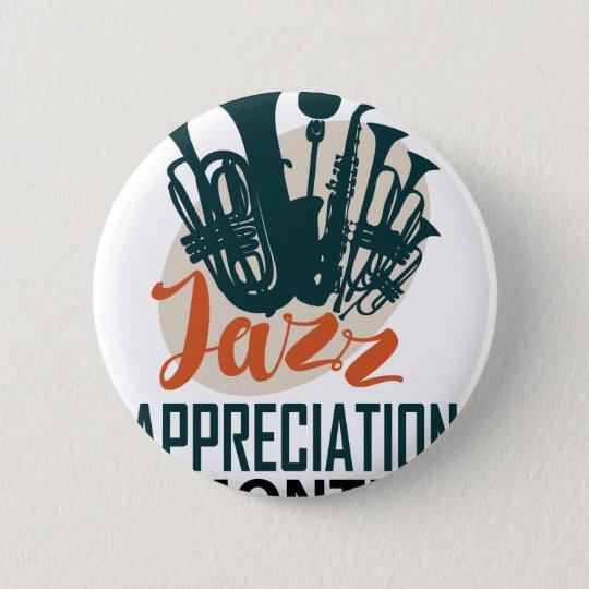 April - Jazz-Anerkennungs-Monat Runder Button 5,1 Cm