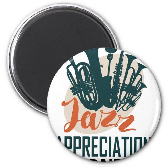 April - Jazz-Anerkennungs-Monat Runder Magnet 5,7 Cm