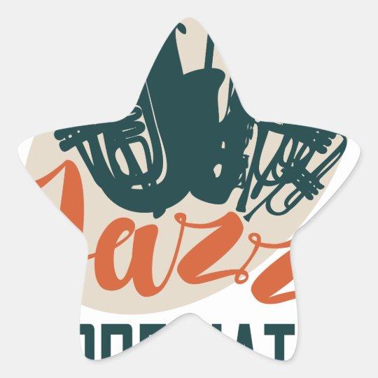 April - Jazz-Anerkennungs-Monat Stern-Aufkleber
