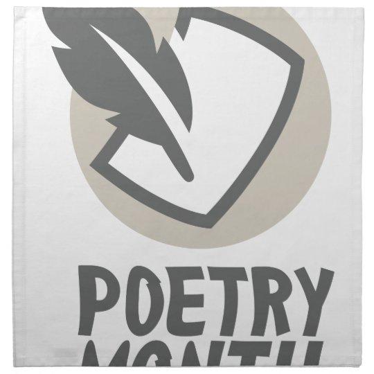 April - Poesie-Monat Bedruckte Servietten