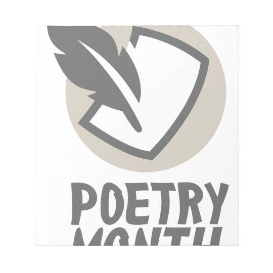 April - Poesie-Monat Notizblock
