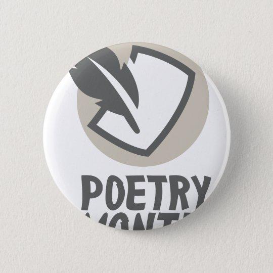 April - Poesie-Monat Runder Button 5,7 Cm