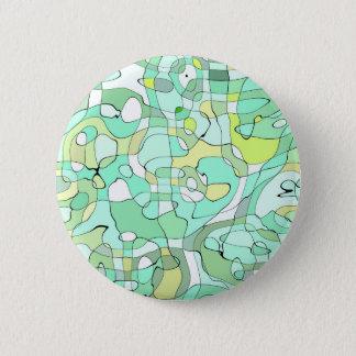Aqua abstrakt runder button 5,1 cm