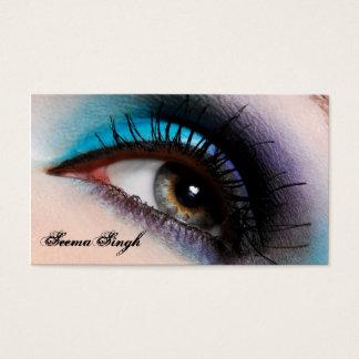 Aqua-Augen-Maskenbildnerkosmetik Visitenkarte