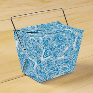 Aqua-blaue Damast-Hochzeit Geschenkschachtel