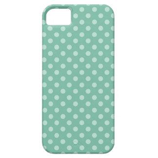 Aqua-blaue kleine Tupfen-Muster-Druck-Geschenke Hülle Fürs iPhone 5