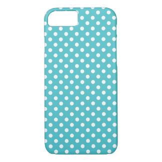 Aqua-blauer kleiner Tupfen iPhone 7 Kasten iPhone 8/7 Hülle