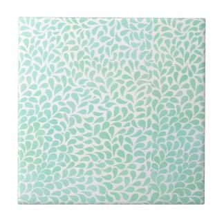 Aqua blauer Watercolor lässt Keramikfliese fallen