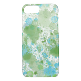 Aqua-blauer weises GrünWatercolor abstrakt iPhone 8/7 Hülle