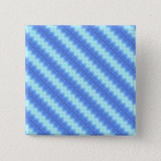 Aqua-blaues Quadratischer Button 5,1 Cm