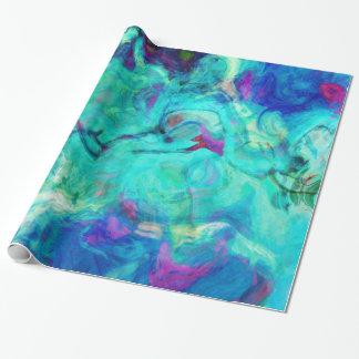 Aqua-blaues Wasser abstrakt Geschenkpapierrolle