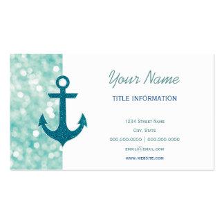 Aqua Bokeh SeeGlitter-Anker Visitenkarten