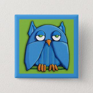 Aqua-Eulengrünaqua Quadrat-Knopf Quadratischer Button 5,1 Cm