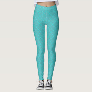 Aqua gemustert leggings