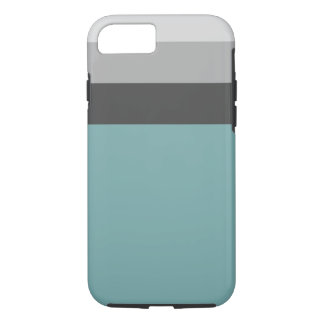 Aqua-, Graue u. Braunegestreifte Telefonabdeckung iPhone 8/7 Hülle