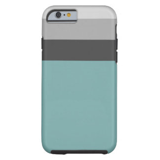 Aqua-, Graue u. Braunegestreifte Telefonabdeckung Tough iPhone 6 Hülle