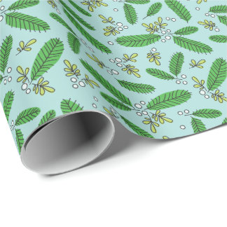 Aqua-grüner Retro Geschenkpapier